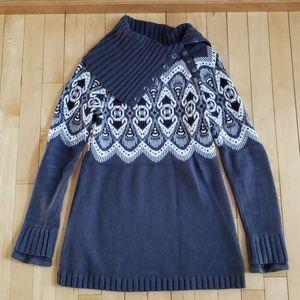 Athleta gray fair aisle tunic sweater S